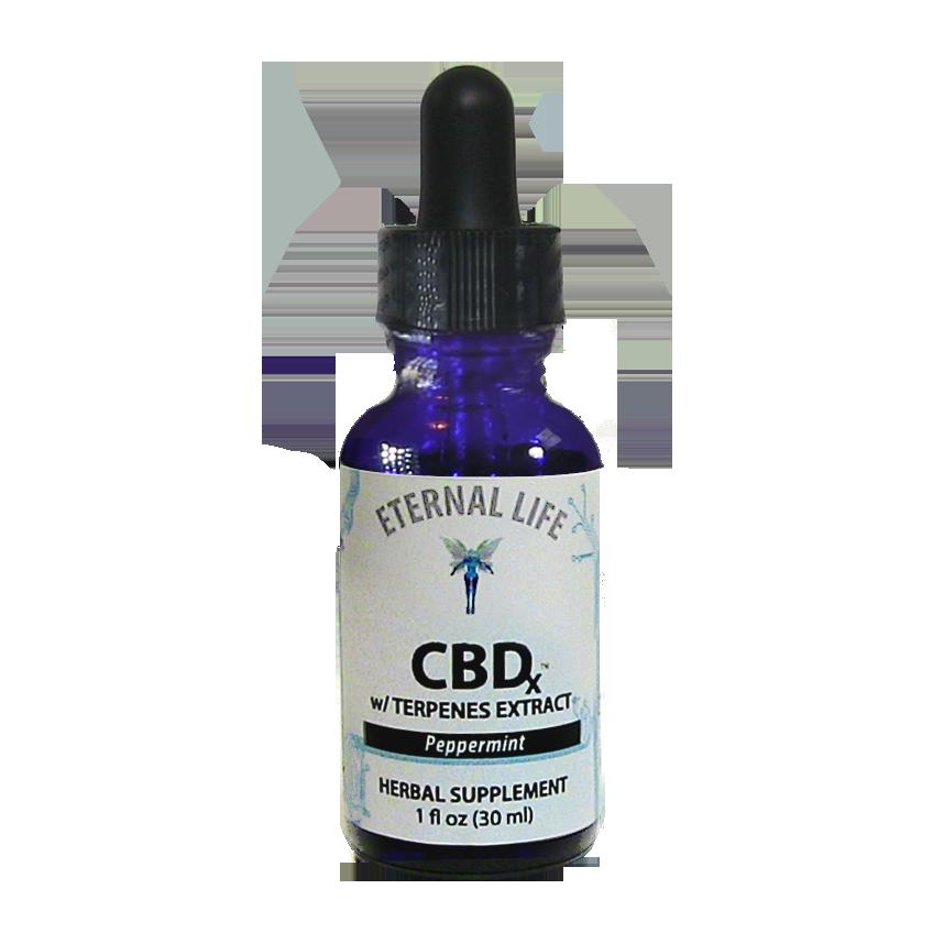 CBD<sub>x</sub> Peppermint (Full Spectrum) product image (zoomed)