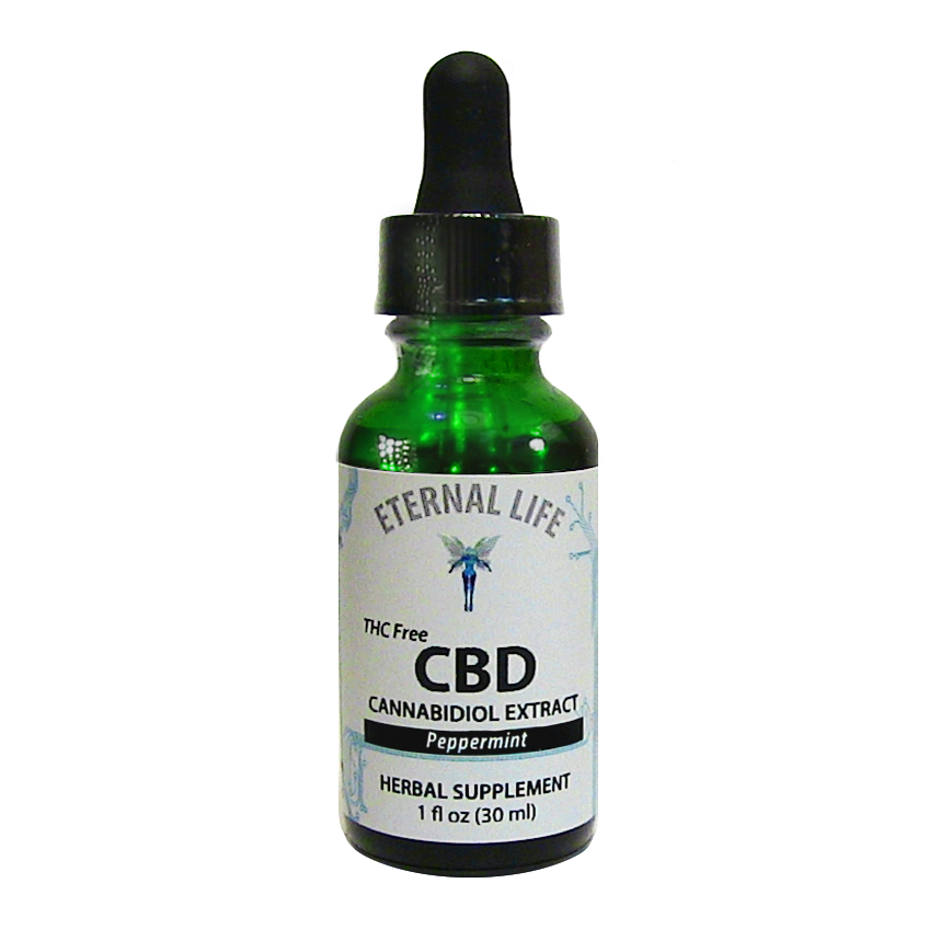 CBD Peppermint product image (zoomed)