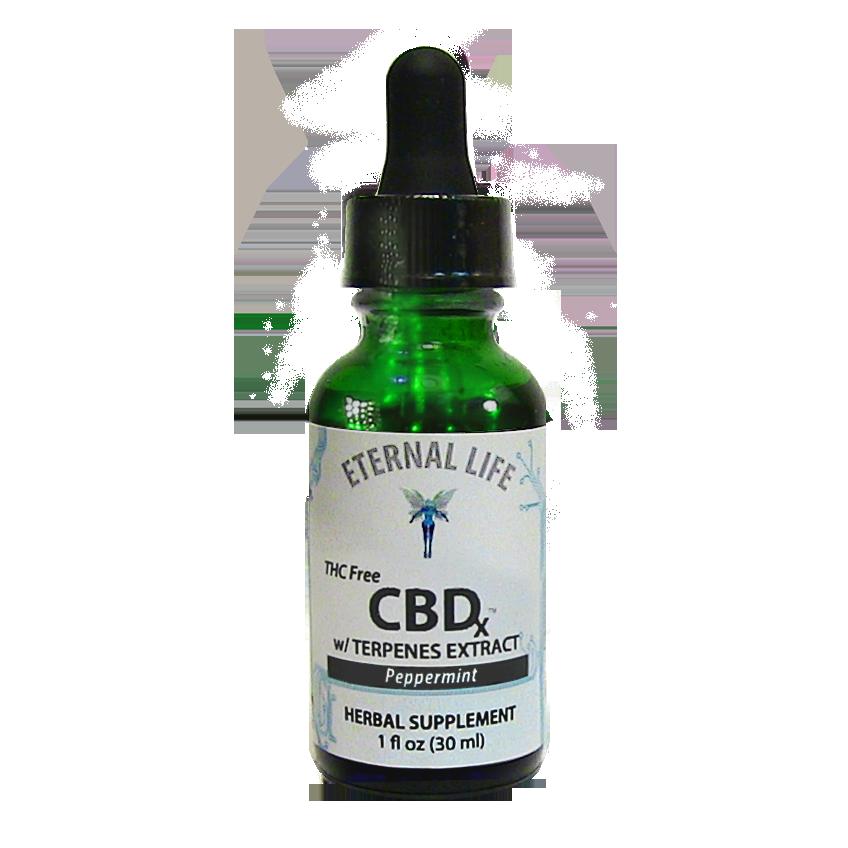 CBD<sub>x</sub> Peppermint product image (zoomed)